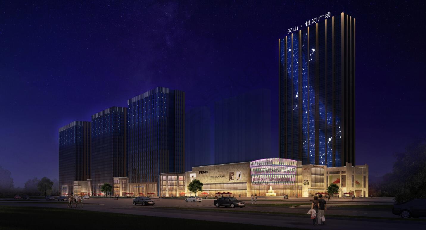 tianshan银河广场夜景灯guang照明设计